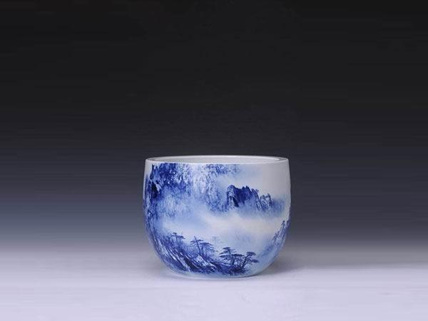 青花山水作品